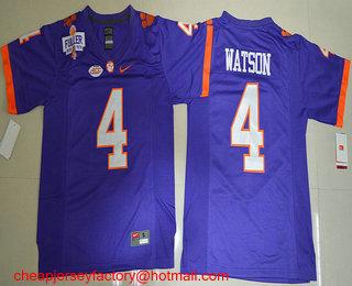 size 40 e9dee a9953 Men's Clemson Tigers #4 Deshaun Watson Purple 2016 College ...