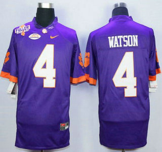 934bce45b ... Limited Jersey W- Mens Clemson Tigers 4 Deshaun Watson Purple College  Football Jersey With Steve Fuller Patch ...