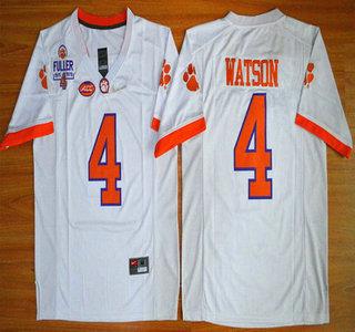 info for 08f36 f3e21 mens clemson tigers 4 deshaun watson white college football ...
