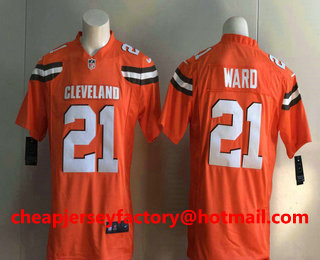 369afd5f10e ...  6 Baker Mayfield White Road Stitched NFL Nike Game Jersey   21.5. Men s  Cleveland Browns  21 T.J. Ward Orange Alternate Stitched NFL Nike Game  Jersey