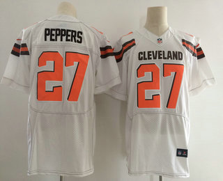 e4763ef1f0d ... Jersey Mens 2017 NFL Draft Cleveland Browns 27 Jabrill Peppers White  Road Stitched NFL Nike Elite ...