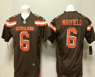 4df3475f1 Men s Cleveland Browns  6 Baker Mayfield Brown 2018 Vapor Untouchable  Stitched NFL Nike Limited Jersey