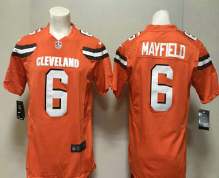 f75b33467 Men s Cleveland Browns  6 Baker Mayfield Orange 2018 Vapor Untouchable  Stitched NFL Nike Limited Jersey