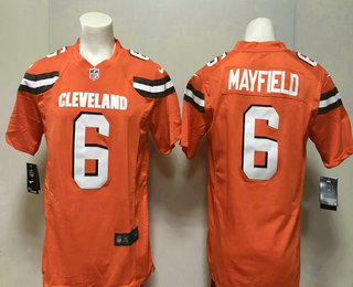 1cdbfab6c ... wholesale mens cleveland browns 6 baker mayfield orange alternate  stitched nfl nike game jersey 9c0e3 6d4d4 ...