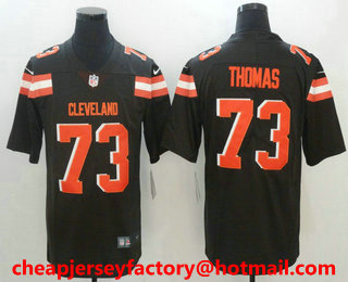 ... Mens Cleveland Browns 73 Joe Thomas Brown 2017 Vapor Untouchable Stitched  NFL Nike Limited Jersey . ... 6157a4316