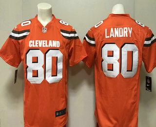 baf8eed2d37 Men s Cleveland Browns  80 Jarvis Landry Orange Alternate 2018 Vapor  Untouchable Stitched NFL Nike Limited