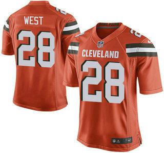 mens cleveland browns 28 terrance west orange alternate 2015 nfl nike elite jersey mens cleveland br