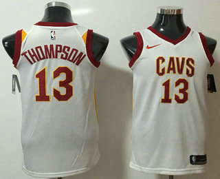 Men s Cleveland Cavaliers  13 Tristan Thompson White 2017-2018 Nike Icon  Edition Swingman Jersey 4e26d4812