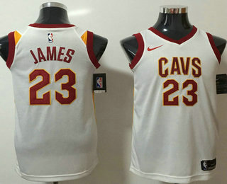 20fb683913e Men s Cleveland Cavaliers  23 LeBron James White 2017-2018 Nike Icon Edition  Swingman Jersey