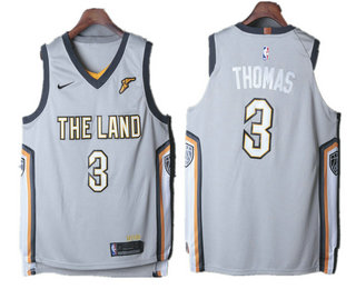 the latest ffeb3 b7675 Men's Cleveland Cavaliers #0 Kevin Love Grey 2017-18 Nike ...