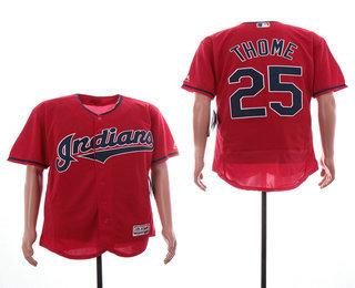 e38b0776f Men s Cleveland Indians  12 Francisco Lindor Mr. Smile Majestic Red ...