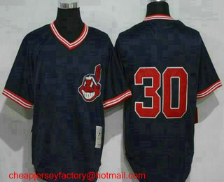 new styles b4c30 98303 Men's Cleveland Indians #14 Larry Doby 1948 Cream Mitchell ...