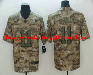 93f4008235e Men's Dallas Cowboys #11 Cole Beasley Nike Camo 2018 Salute to Service  Stitched NFL Limited
