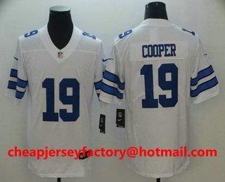 83890f35f08 Men's Dallas Cowboys #19 Amari Cooper White 2017 Vapor Untouchable Stitched  NFL Nike Limited Jersey