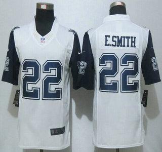 Mens Dallas Cowboys 22 Emmitt Smith Nike White Color Rush 2015 NFL Limited  Jersey ... e6e881278