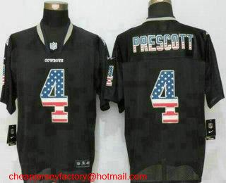 low priced 14074 72d49 nike cowboys 4 dak prescott black mens stitched nfl elite ...