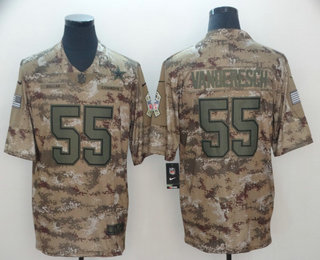 5d5728c119f Men's Dallas Cowboys #55 Leighton Vander Esch Nike Camo 2018 Salute to  Service Stitched NFL