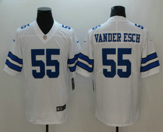 3ac76ab3769 Men's Dallas Cowboys #55 Leighton Vander Esch White 2018 Vapor Untouchable Stitched  NFL Nike Limited Jersey