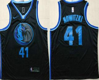 630eee5985 Men s Dallas Mavericks  41 Dirk Nowitzki New Black 2019 City Edition NBA  Swingman Stitched NBA Jersey