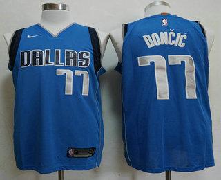 on sale 7ef6f 74742 Men's Dallas Mavericks #77 Luka Doncic Light Blue 2017-2018 ...