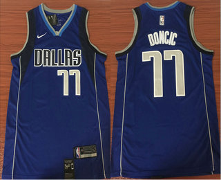 6301f5c38 Men s Dallas Mavericks  77 Luka Doncic Light Blue 2017-2018 Nike Swingman  Stitched NBA