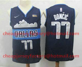 768a1c26975 Men s Dallas Mavericks  77 Luka Doncic New Navy Blue 2019 NBA Swingman  5miles Stitched NBA Jersey