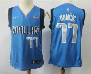 2d2d5bcb2 Men s Dallas Mavericks  77 Luka Doncic New Light Blue 2019 NBA Swingman  5miles Stitched NBA
