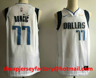 timeless design ce1d1 cf5b6 Men's Dallas Mavericks #77 Luka Doncic 2018 City Edition ...