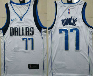 d4cf4700e6b Men s Dallas Mavericks  77 Luka Doncic White 2017-2018 Nike Swingman  Stitched NBA Jersey