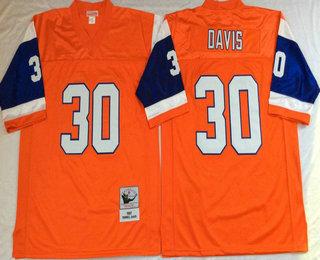 the best attitude c2ecc e73d7 Men's Denver Broncos #27 Steve Atwater Orange Throwback ...