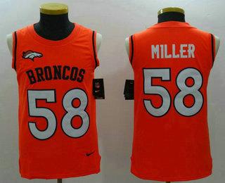 7e260280e29 ... Jersey Mens Denver Broncos 58 Von Miller Orange Color Rush 2017 Vest  Stitched NFL Nike Tank