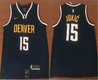 Men s Denver Nuggets  15 Nikola Jokic Navy Blue 2019 NBA Swingman City  Edition Jersey 573df7ebb