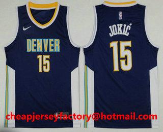 best cheap 73d26 b7e87 Men's Denver Nuggets #15 Carmelo Anthony Stitched Baby Blue ...