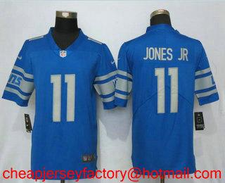 a1cdf4ff1 Men s Detroit Lions  11 Marvin Jones Jr Light Blue 2017 Vapor Untouchable  Stitched NFL Nike