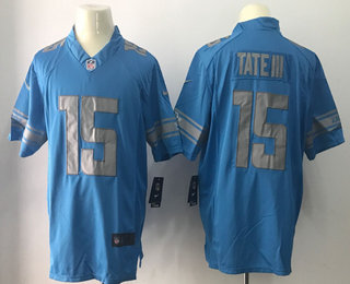 New Men's Detroit Lions #9 Matthew Stafford Light Blue 2017 Color Rush  for cheap