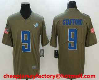 New Men's Detroit Lions #9 Matthew Stafford Steel Gray 2017 Color Rush