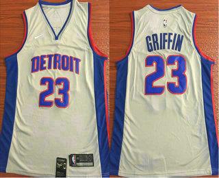 da54c1191 Men s Detroit Pistons  23 Blake Griffin New Gray 2019 Nike Swingman  Stitched NBA Jersey