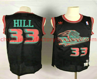 b0c9cd5f120 Men s Detroit Pistons  33 Grant Hill Black Hardwood Classics Soul Swingman Throwback  Jersey