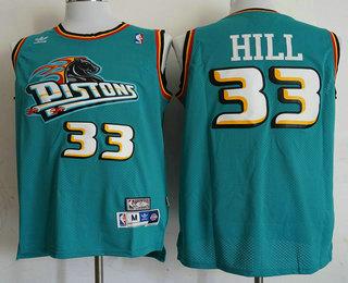 33efedaefa8 ... best mens detroit pistons 33 grant hill teal green hardwood classics  soul swingman throwback jersey 89e66