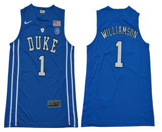 d4f6082aec13 Men s Duke Blue Devils  1 Zion Williamson V Neck Royal Blue 2017 College  Basketball Nike