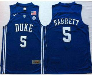 1896e88d4739 Men s Duke Blue Devils  5 RJ Barrett Blue Elite Nike College Basketball  Jersey