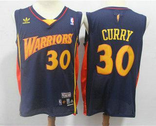 Men s Golden State Warriors  30 Stephen Curry 2009-10 Navy Blue Hardwood  Classics Soul Swingman Throwback Jersey 0f481a61e