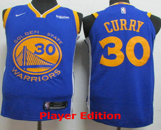 749bdc74006 Men s Golden State Warriors  30 Stephen Curry Blue 2018 Nike Player Edition Stitched  NBA Jersey