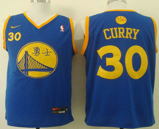 ... Mens Golden State Warriors 30 Stephen Curry Revolution 30 Swingman Blue  Fashion Nike Jersey ... ddb916e3b