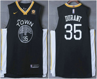 7f495698c15 Men 27s Golden State Warriors 2335 Kevin Durant Black 2017 2018 Nike Swingman  Stitched NBA Jersey