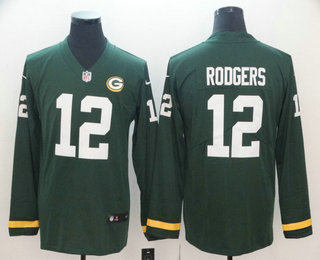 online store e968d e0f3a Men's Green Bay Packers #12 Aaron Rodgers Green C Patch With ...