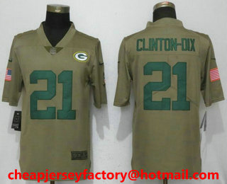 a9cedfae7 Stitched NFL Nike Limited Jersey 21.5. Mens Green Bay Packers 21 Ha ...
