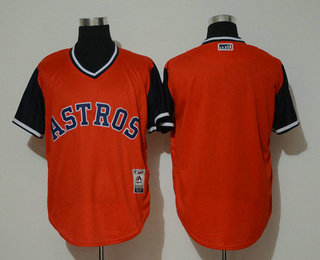 18106fd0c73 Men s Houston Astros Blank Orange 2018 LLWS Players Weekend Stitched  Nickname Jersey