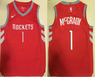 official photos 0e786 26d82 Men's Houston Rockets #1 Tracy McGrady New Red 2017-2018 ...