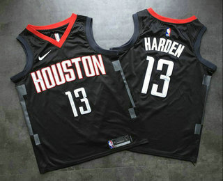 wholesale dealer ce934 7de16 Men's Houston Rockets #13 James Harden New Black 2017-2018 ...